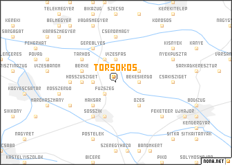 map of Törsökös