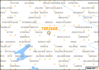 map of Torzewo