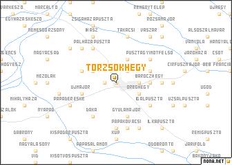 map of Törzsökhegy