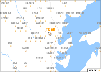 map of T'osa