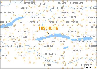 map of Töschling