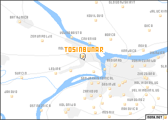 map of Tošin Bunar