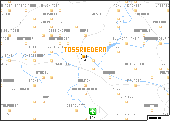 map of Tössriedern