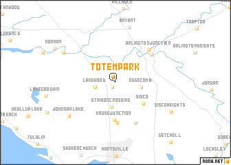 map of Totem Park