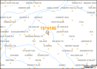 map of Tóthtag