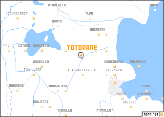 map of Totorane