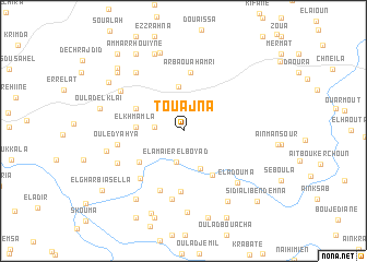 map of Touajna