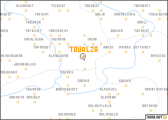 map of Toualza
