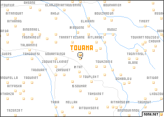 map of Touama