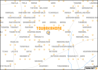 map of Touba Kahone