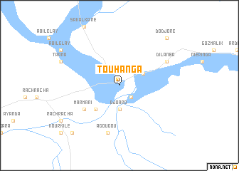 map of Touhanga