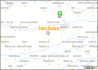 map of Toulouges