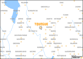 map of Toungué