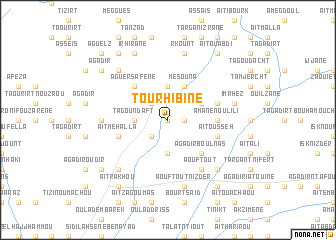 map of Tourhibine