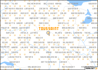 map of Toussaint