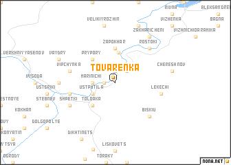 map of Tovarenka