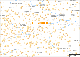 map of Tovarnica