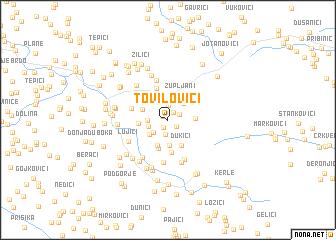 map of Tovilovići