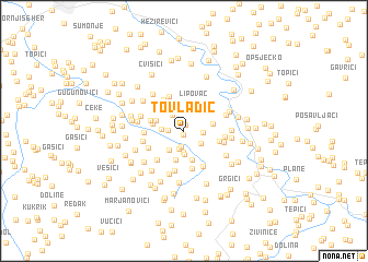 map of Tovladić