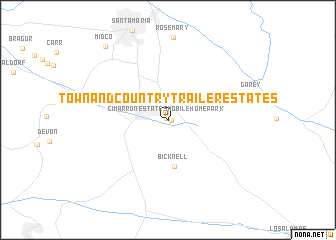 map of Town and Country Trailer Estates