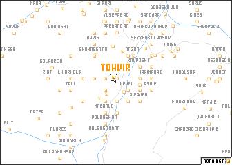 map of Ţowvīr