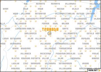 map of Trabada