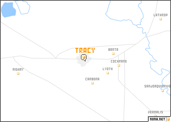 map of Tracy