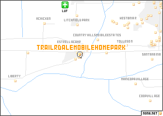 map of Trail-R-Dale Mobile Home Park