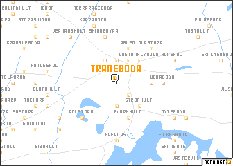 map of Traneboda