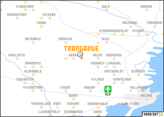 map of Trangärde