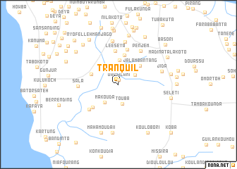 Tranquil Gambia The map nonanet