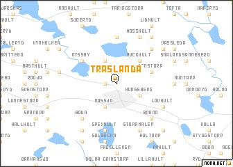 map of Träslända