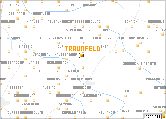map of Traunfeld