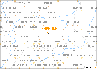 map of Travanca