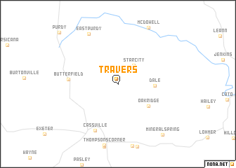 map of Travers