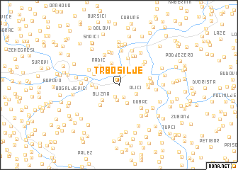 map of Trbosilje