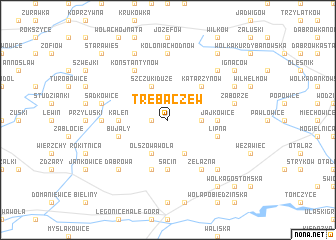 map of Trębaczew