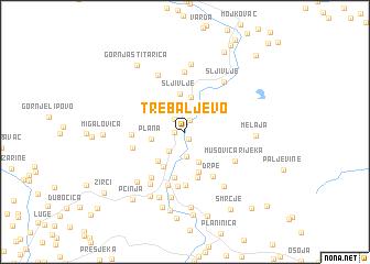 map of Trebaljevo