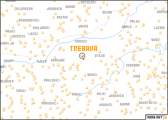 map of Trebava