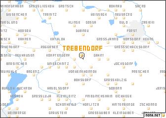 map of Trebendorf
