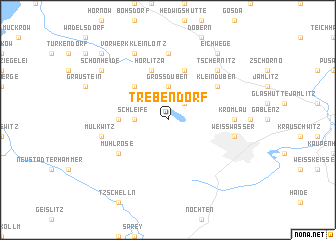 map of Trebendorf