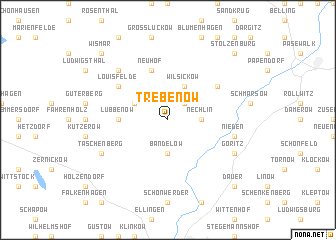 map of Trebenow