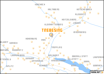 map of Trebesing