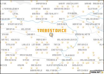 map of Třebestovice