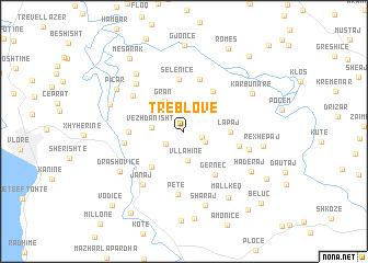 map of Treblovë