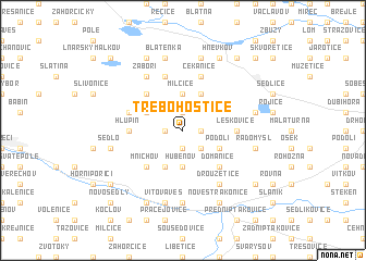 map of Třebohostice