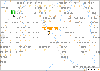 map of Trébons