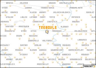 map of Třebovle