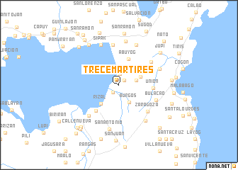 map of Trece Martires