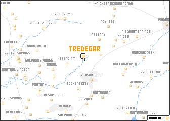 map of Tredegar